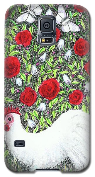 Chicken And Butterflies In The Flowers Galaxy S5 Case