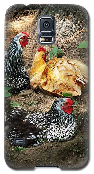 Chicken Dust Bath Party Galaxy S5 Case
