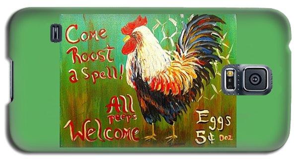 Chicken Welcome 3 Galaxy S5 Case