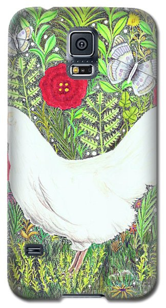 Chicken With Millefleurs And Butterflies  Galaxy S5 Case