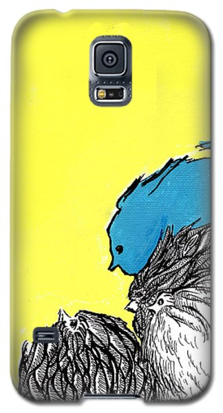 Galaxy S5 Case featuring the painting Chickens One by Jason Tricktop Matthews