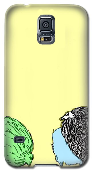 Galaxy S5 Case featuring the painting Chickens Three by Jason Tricktop Matthews