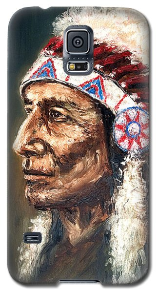 Galaxy S5 Case featuring the painting Chief by Arturas Slapsys