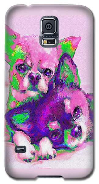 Chihuahua Love Galaxy S5 Case by Jane Schnetlage