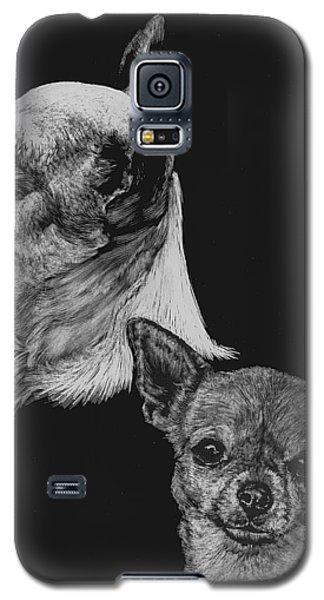 Galaxy S5 Case featuring the drawing Chihuahua by Rachel Hames