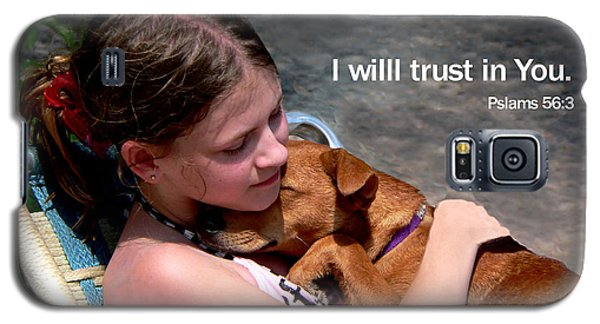 Child And Puppy Psalms Galaxy S5 Case