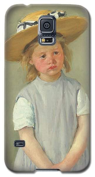 Galaxy S5 Case featuring the painting Child In A Straw Hat By Mary Cassatt 1886 by Movie Poster Prints