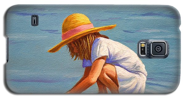 Child Playing In The Sand Galaxy S5 Case