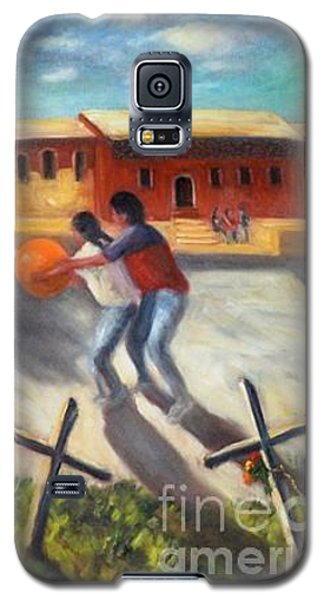 Galaxy S5 Case featuring the painting Tres Cruces De La Juventud Y La Vejez by Randol Burns