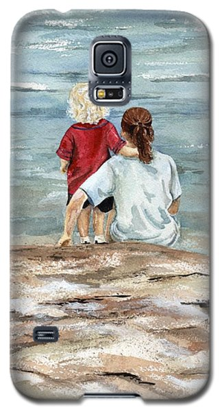 Children By The Sea  Galaxy S5 Case by Nancy Patterson