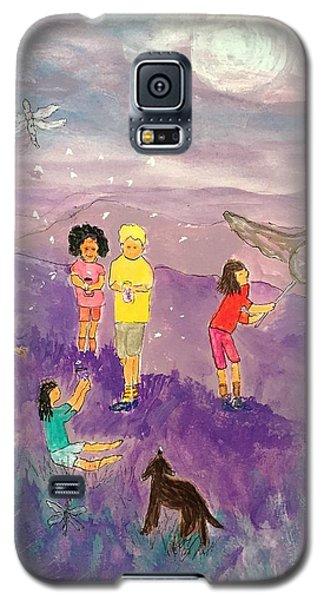 Children Catching Fireflies Galaxy S5 Case
