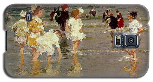 Impressionism Galaxy S5 Case - Children On The Beach by Edward Henry Potthast