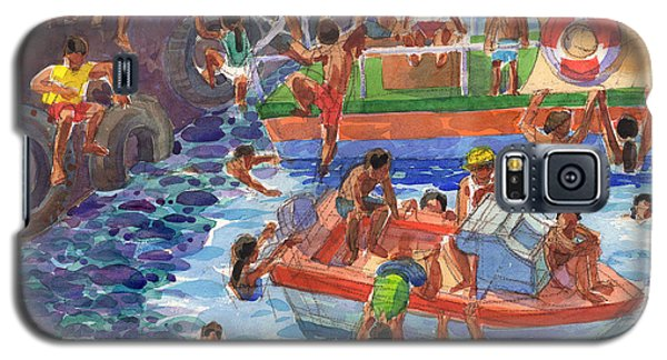 Children Playing At Avarua Wharf  Galaxy S5 Case