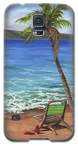 Galaxy S5 Case featuring the painting Chillaxing Maui Style by Darice Machel McGuire