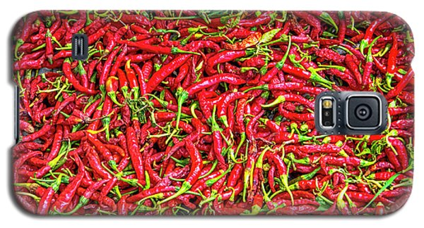 Galaxy S5 Case featuring the photograph Chillies by Charuhas Images
