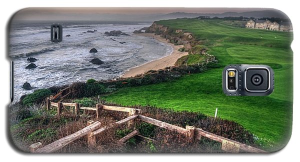 Galaxy S5 Case featuring the photograph Chilling At Half Moon Bay by Quality HDR Photography