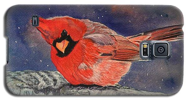 Chilly Bird Christmas Card Galaxy S5 Case