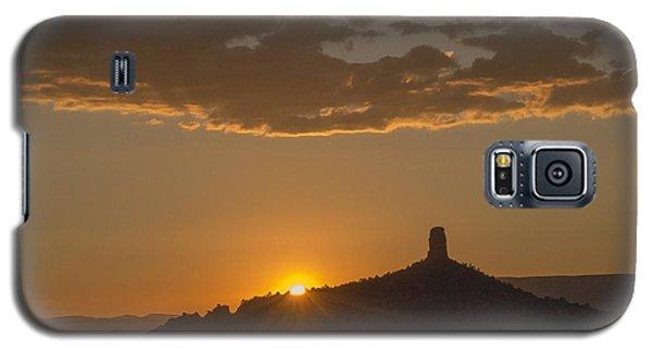Chimney Rock Sunset Galaxy S5 Case by Laura Pratt