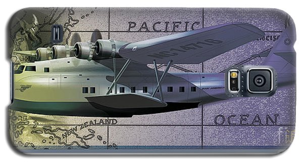 China Clipper Chasing The Sun Galaxy S5 Case by Kenneth De Tore