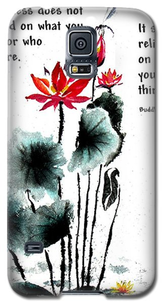 China Garden With Buddha Quote Galaxy S5 Case