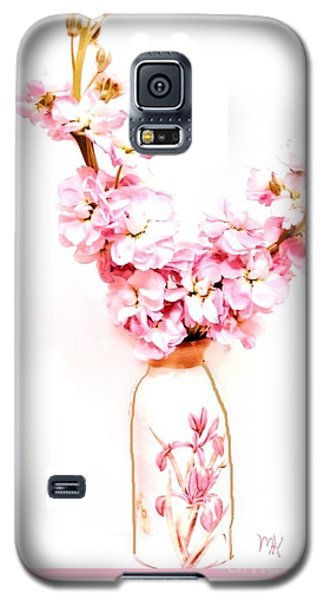 Galaxy S5 Case featuring the digital art Chinese Bouquet by Marsha Heiken