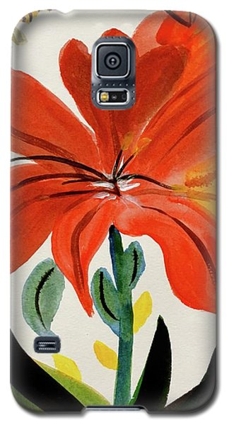 Chinese Brush Work Bee And Flower Galaxy S5 Case