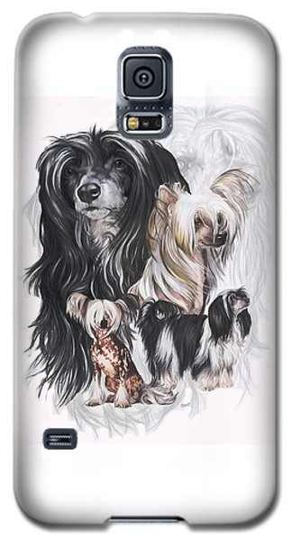Chinese Crested And Powderpuff W/ghost Galaxy S5 Case
