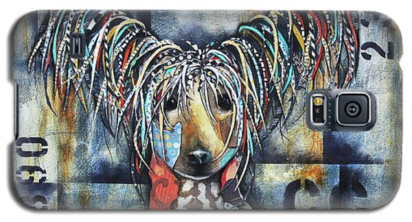 Galaxy S5 Case featuring the mixed media Chinese Crested by Patricia Lintner