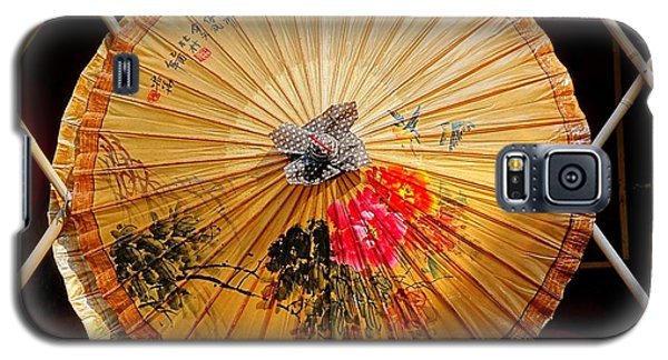 Galaxy S5 Case featuring the photograph Chinese Hand-painted Oil-paper Umbrella by Yali Shi