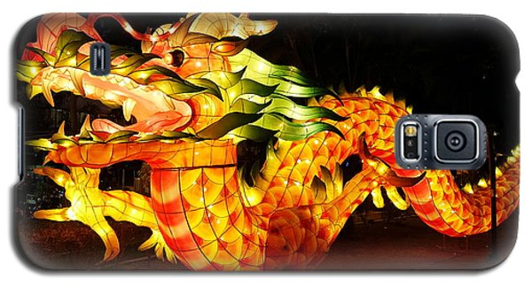 Galaxy S5 Case featuring the photograph Chinese Lantern In The Shape Of A Dragon by Yali Shi