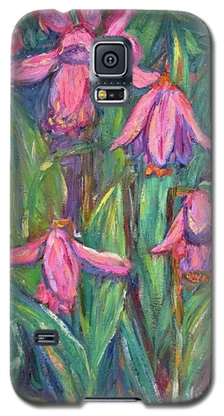 Galaxy S5 Case featuring the painting Chinese Orchids by Kendall Kessler