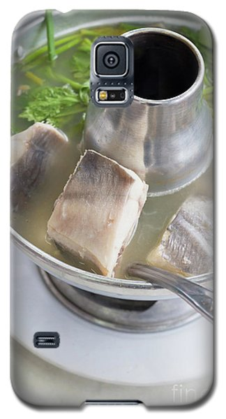 Galaxy S5 Case featuring the photograph Chinese Silver Pomfret Soup by Atiketta Sangasaeng