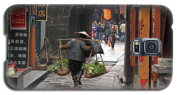 Chinese Woman Carrying Vegetables Galaxy S5 Case by Valentino Visentini
