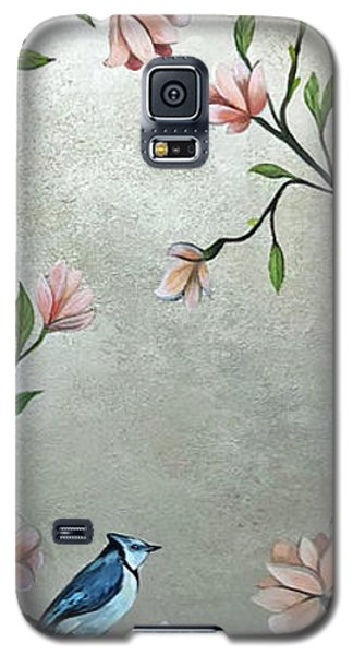 Magnolia Galaxy S5 Case - Chinoiserie - Magnolias And Birds by Shadia Derbyshire