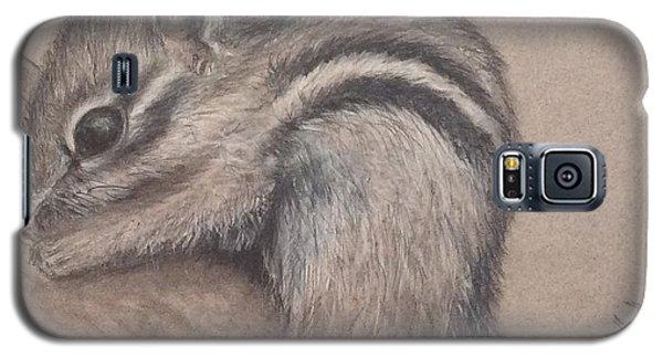 Galaxy S5 Case featuring the drawing Chipmunk, Tn Wildlife Series by Annamarie Sidella-Felts