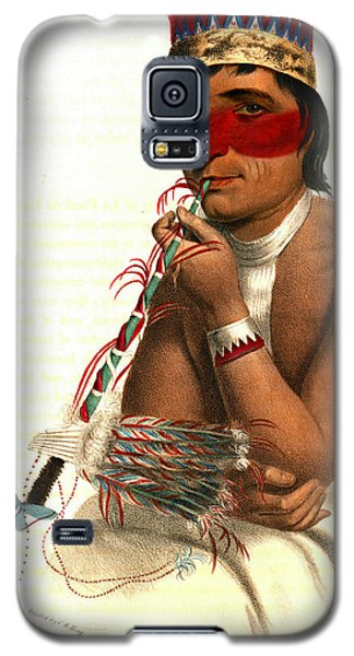 Galaxy S5 Case featuring the photograph Chippeway Chief 1836 by Padre Art