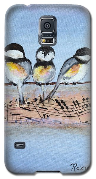 Chirpy Chickadees Galaxy S5 Case by Roxy Rich