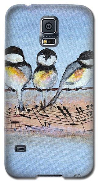 Chirpy Chickadees Galaxy S5 Case by Roxy Rich