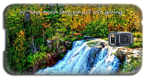 Galaxy S5 Case featuring the photograph Chittenango Falls, Ny Mother Teresa  by Diane E Berry