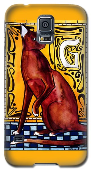 Chocolate Delight - Havana Brown Cat - Cat Art By Dora Hathazi Mendes Galaxy S5 Case