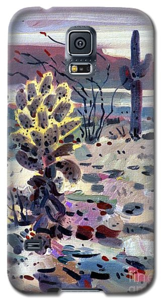Cholla Saguargo And Ocotillo Galaxy S5 Case by Donald Maier