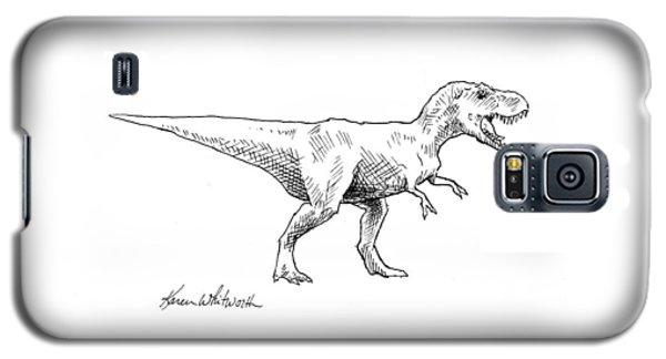 Tyrannosaurus Rex Dinosaur T-rex Ink Drawing Illustration Galaxy S5 Case