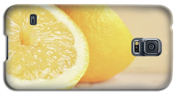 Galaxy S5 Case featuring the photograph Chopped Lemon by Lyn Randle