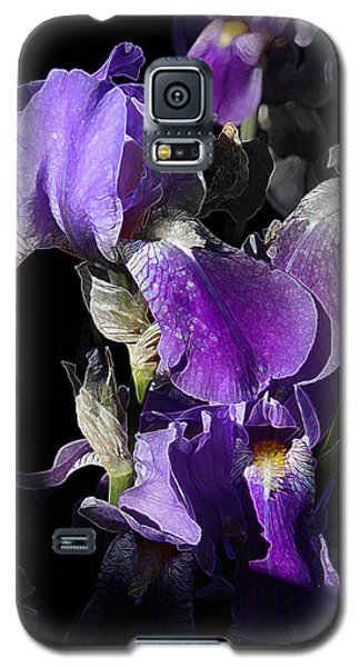 Chris' Garden - Purple Iris 1 Galaxy S5 Case by Stuart Turnbull