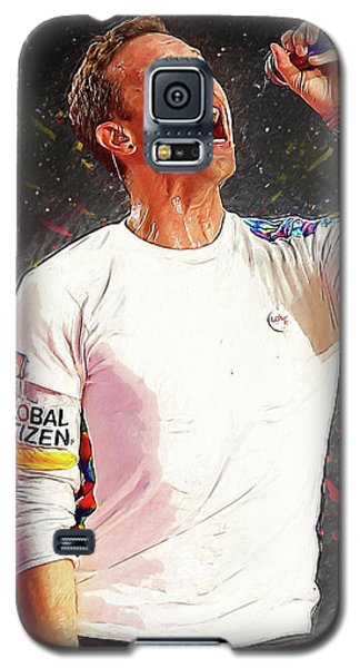 Chris Martin - Coldplay Galaxy S5 Case by Semih Yurdabak