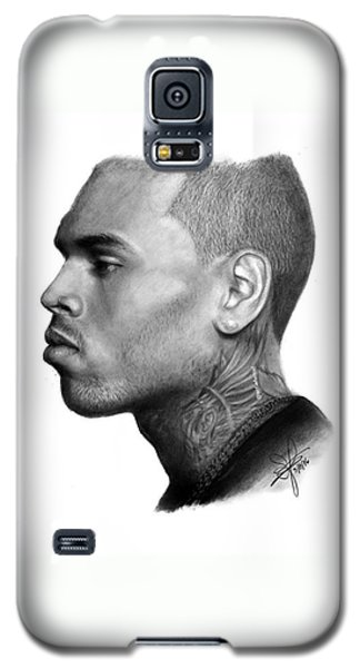 Chris Brown Drawing By Sofia Furniel Galaxy S5 Case