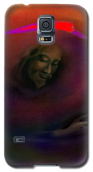Galaxy S5 Case featuring the painting Christ by Kevin Middleton