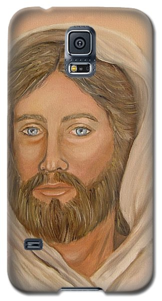 Galaxy S5 Case featuring the painting Christ by Quwatha Valentine