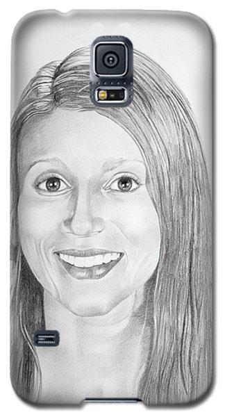 Galaxy S5 Case featuring the drawing Christina by Mayhem Mediums