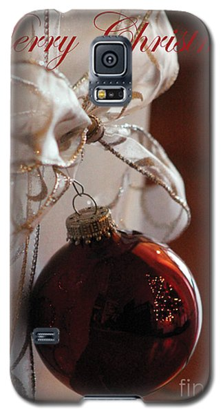 Christmas Ball And Bow Galaxy S5 Case